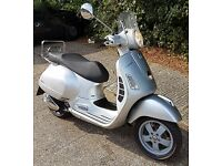 Vespa GTS 125 2008 in Silver with Years Mot on collection. It has covered only 5800 mls from