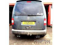 VW Caddy fitted with Proflow Exhausts Mid Duel Rear with Twin Tips