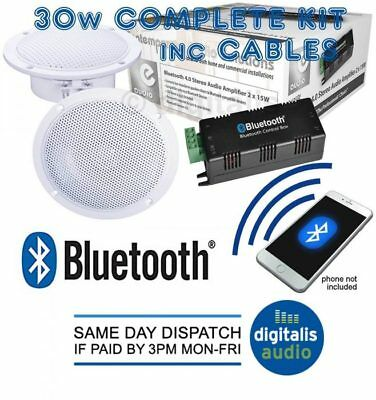 BATHROOM OR KITCHEN WIRELESS BLUETOOTH AMPLIFIER 2 X 4 INCH CEILING SPEAKERS