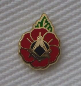 Masonic Poppy Lapel Pin – LR481