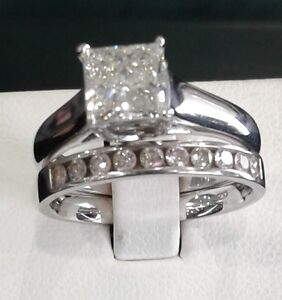 HALF PRICE!  Engagement ring and wedding band - size 6.5