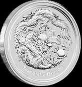 Year of The Dragon Silver Coin 1oz