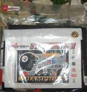 Steelers 2005 AFC Champions Banner Flag London Ontario image 1
