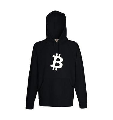 Hoodie bitcoin Logo schwarz | Pullover | Sweatshirt | Kapuzenpullover | Hoody Schwarz Logo Hoody