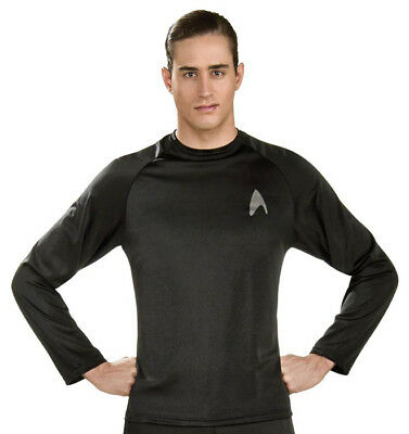 Star Trek Off-Duty Uniform black shirt adult mens - Star Trek Adult Costume