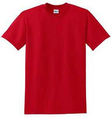 XL RED PLAIN T SHIRT 50/50 COTTON BLEND FOR RED HAT LADIES OF SOCIETY BIRTHDAY - Plain Birthday Hats