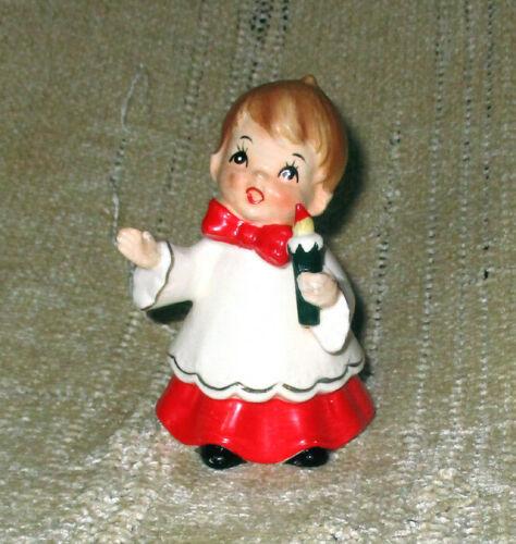 Vintage Christmas Choir Boy Josef Originals Ceramic Figure w/Candle
