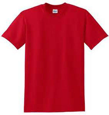 2X PLAIN RED T SHIRT 50/50 POLY COTTON FOR RED HAT LADIES OF SOCIETY BIRTHDAY - Plain Birthday Hats
