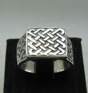 STERLING-SILVER-MENS-RING-SOLID-925-NEW-SIZE-N-Z-EMPRESS-R001101