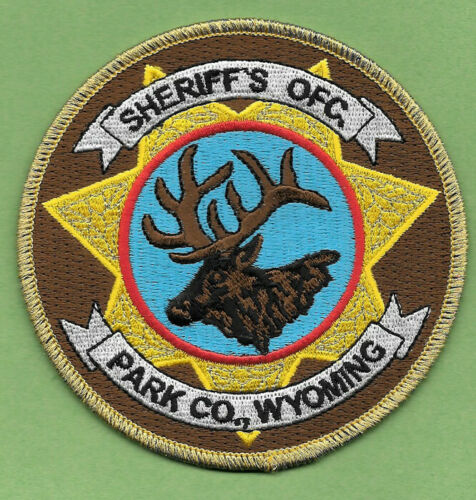 PARK COUNTY CO WYOMING WY SHERIFF OFFICE PATCH SO SD PC ELK (FIRE)