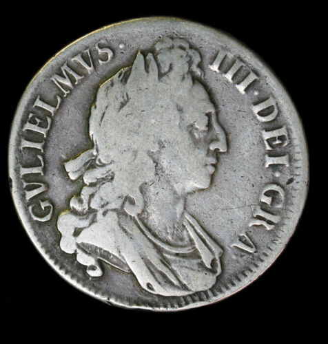 1696/5 Great Britain Crown KM# 486 William III OCTAVO First Bust England 1696 6