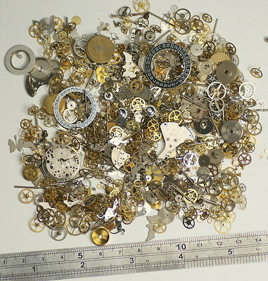 50g watch parts STEAMPUNK JEWELLERY ALTERED ART CRAFTS CYBERPUNK COGS GEARS ETC