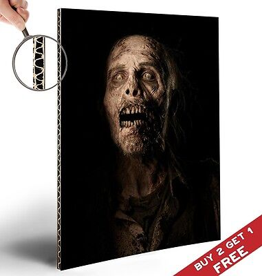 ZOMBIE POSTER * Halloween Party Decoration Scary Wall Door Art Glossy A4 Picture