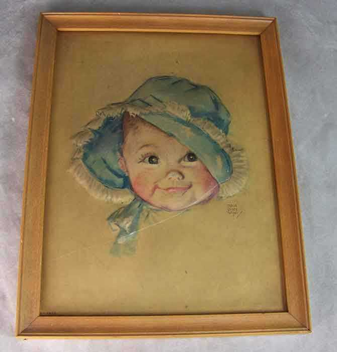 Vintage Maud Tousey Fangel 3-D Print BRIGHT EYES Baby