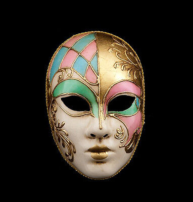 Mask Venice Volto Face Stained glass - Mask Venetian Authentic 355