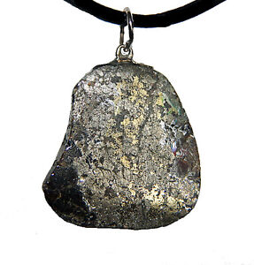 His or Her's Silver, Chalcopyrite & Zinc Pendant For Sale