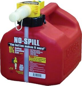 No-Spill Gasoline Fuel Gas Can Red 1.25 Gallon 7.5