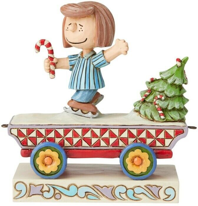 Jim Shore Peanuts PEPPERMINT PATTY Stone Resin Figurine Train Car Snoopy 6003027