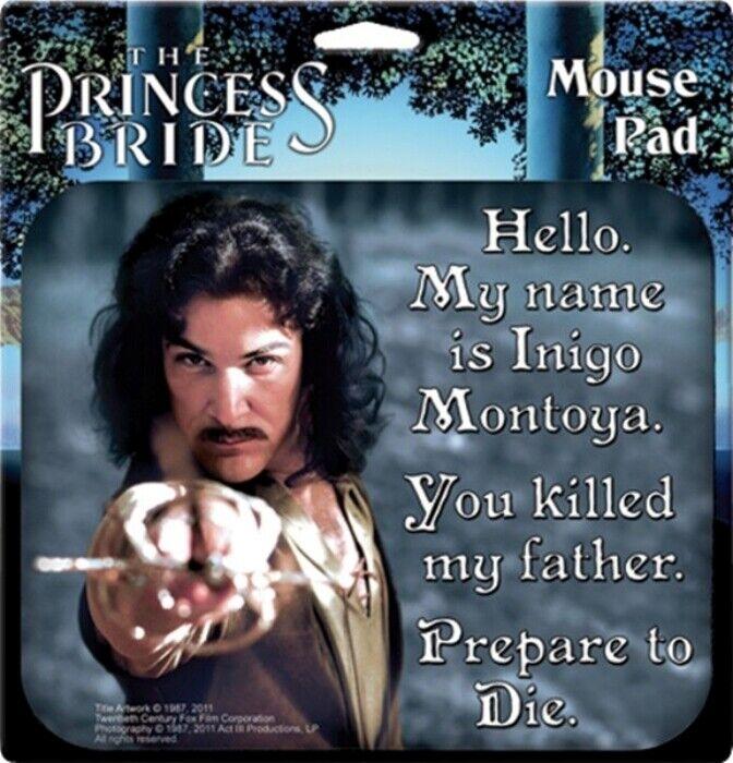 The Princess Bride My Name Is Inigo Montoya Computer Mouse Pad, NEW UNUSED