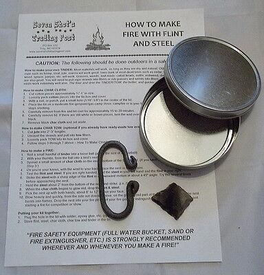 Economical Flint and Steel Kit #1 (Mountain Man/Rev War/Camping)