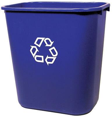 Rubbermaid Commercial 2956-73-BLUE Deskside Recycling Container, 28-1/8 Qt,