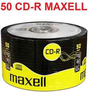 50 MAXELL BLANK DISCS CD-R RECORDABLE CD CDR