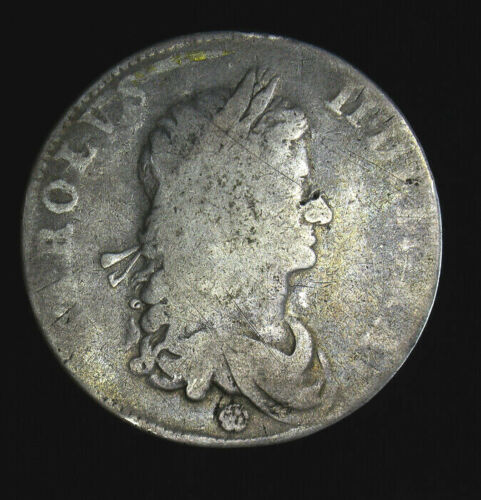 1662 Great Britain Crown KM# 417.2 Charles II England