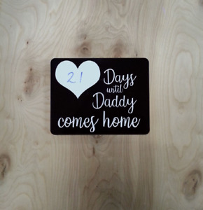 Military Deployment countdown home decor (Made here locally)