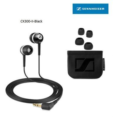 Sennheiser CX 300 II Precision Noise Isolating Ear-canal Phones, Black