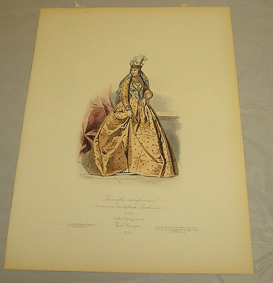 1875 Antique Print/PRINCESS CATHERINE, AS AMBASSADOR/Historic Costumed Figures - Historical Figure Costume