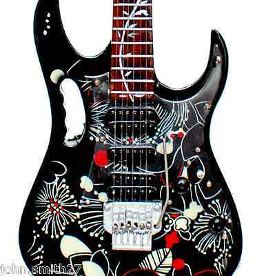 Miniature Guitar Steve Vai Floral Patern FP2 Black Ibanez Jem V Cool for sale  Shipping to Canada