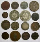 Duitse staten - lot various coins 1797/1866 (16 different pi