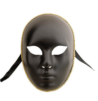 Mask Venice Volto Face Black Mask - Venetian Authentic 364