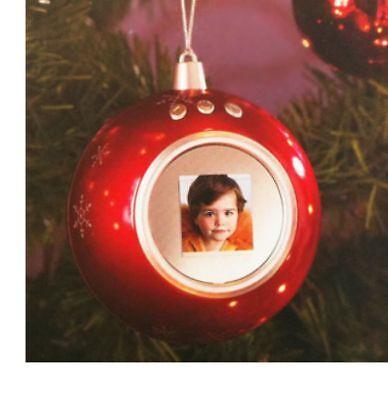Bola de Navidad Digital Rojo Para Abeto – Marco Fotos Digital 1,5