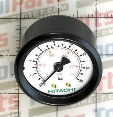 Hitachi 885446 2-14-inch Pressure Gauges Gbspp For The Ec2510e Air Compressor