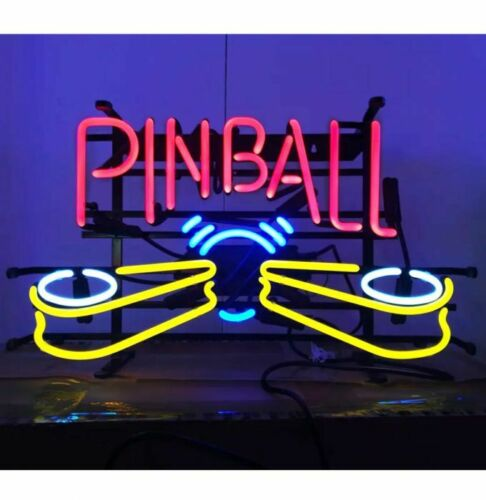 "New Pinball Machine Game Neon Light Sign 17""x14"" Decor Lamp Bar Pub Display"