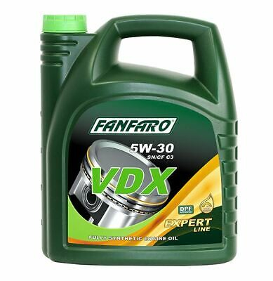 FANFARO VDX 5W-30 5L Fully Synthetic Engine Oil Low Saps C3 API SN/CF, Dexos2.