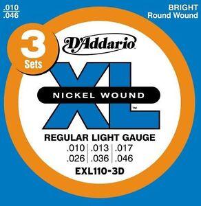 DAddario-EXL110-Electric-Guitar-Strings-3-Pack-10-46