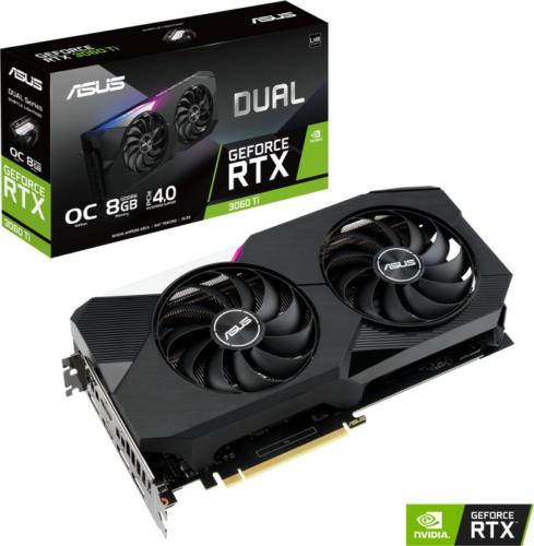 ASUS GeForce RTX 3060Ti Dual OC V2 8GB GDDR6, Gaming Grafikkarte 2xHDMI, 3xDP