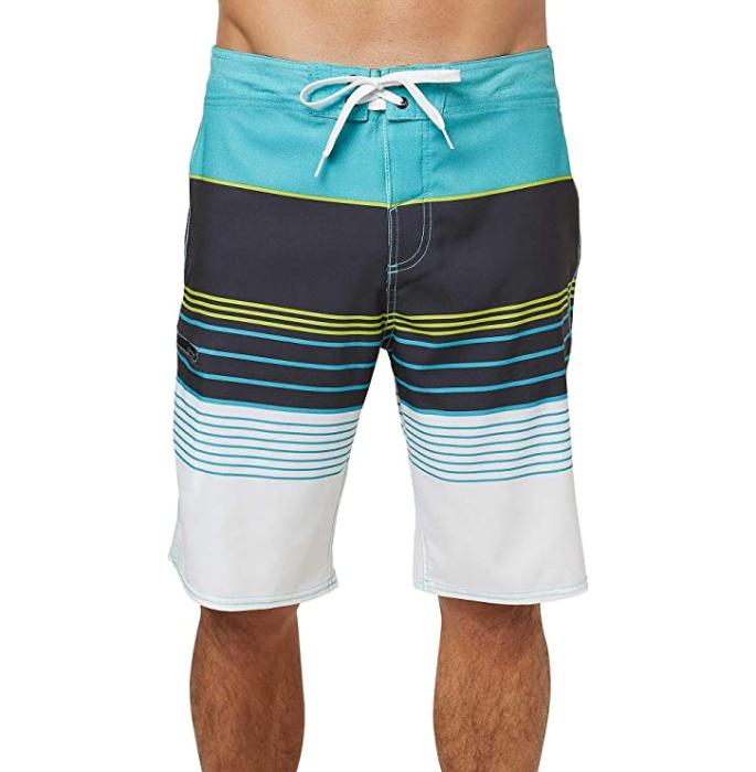 O'Neill Men's Brisbane Boardshorts Blue Striped Size 34 NEW
