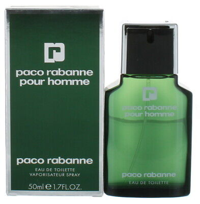 Pour Homme by paco rabanne for Men EDT Cologne Spray 1.7 oz. New in Box
