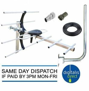 4G DIGITAL TV AERIAL KIT FREEVIEW AND HD FOR INDOOR OUTDOOR OR LOFT INSTALLATION