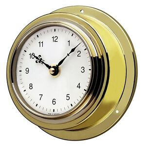 Maritime Wall Clock TFA 98.1021 Ship Clock Brass Quarz Clock