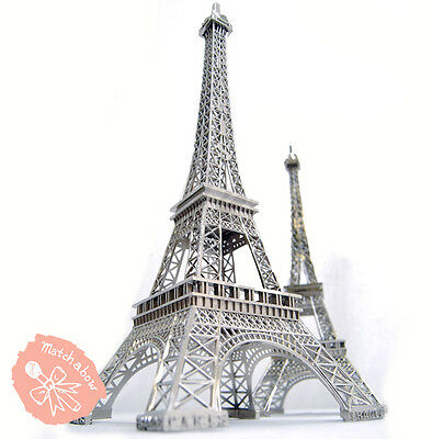 Eiffel Tower Centerpiece Decorations (Silver Metal Paris Eiffel Tower Statue Centerpiece Wedding Decoration 3)