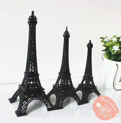 Eiffel Tower Centerpiece Decorations (Black Metal Paris Eiffel Tower Statue Centerpiece Wedding Decoration 3)