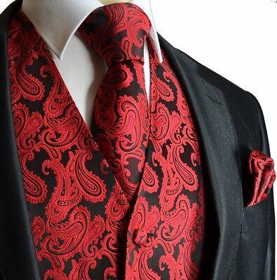 Paisley Men's Tuxedo Suit Vest with Necktie and Pocket - New Tuxedo Vest