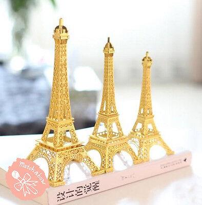 Gold Metal Paris Eiffel Tower Statue Centerpiece Wedding Decoration 3 - Paris Centerpieces
