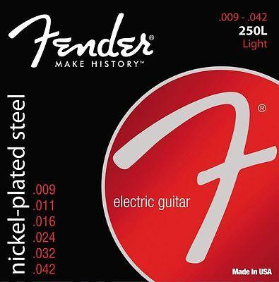 Fender Nickel Ball - Fender 250L Nickel-Plated Ball End Electric Guitar Strings 9-42 light gauge