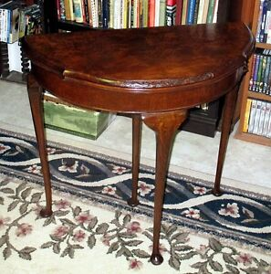Antique Edwardian Flip-top Console Table