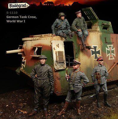 Stalingrad 1110 1/35 WWI German Tank Crew (Big Set, 5 Figures)